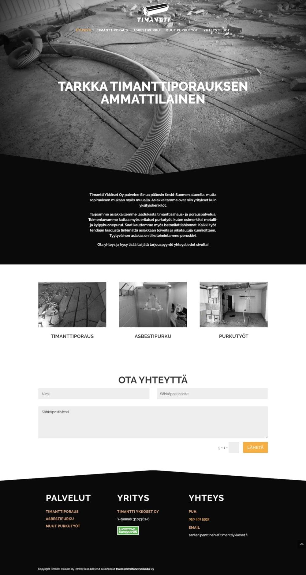 Verkkosivusuunnittelu Mainostoimisto Sitrusmedia Oy